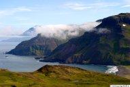 Víknaslóðir, horft niður til Breiðuvíkur frá Kjólsvíkurvarpi