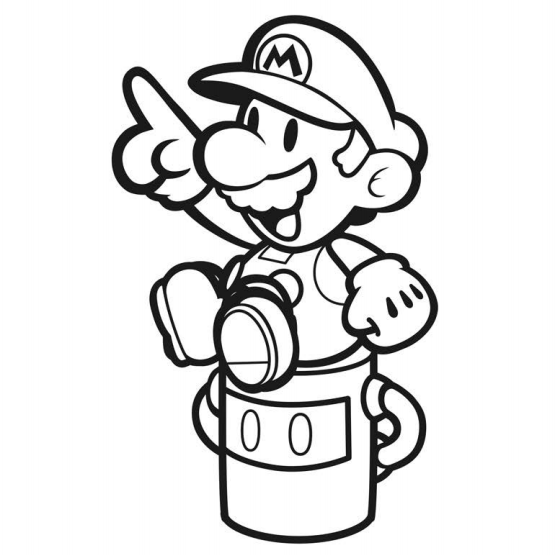 Paper Mario Color Splash Official Coloring Book Artwork Gonintendo