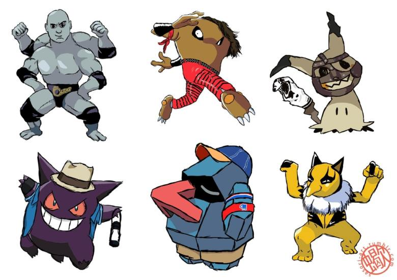 Fan-Art: Pokemon as WWE Superstars | PerezStart