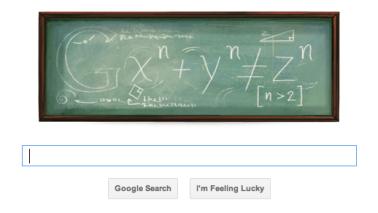 Google Doodle Celebrates Fermat's Last Theorem -2011