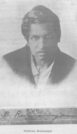 Srinivasa Ramanujan's signature