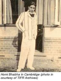 Homi Jehangir Bhabha in Cambridge