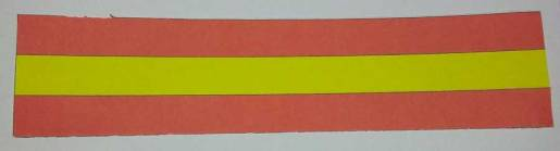 Rectangular strip for constructing the coloured Mobius strip