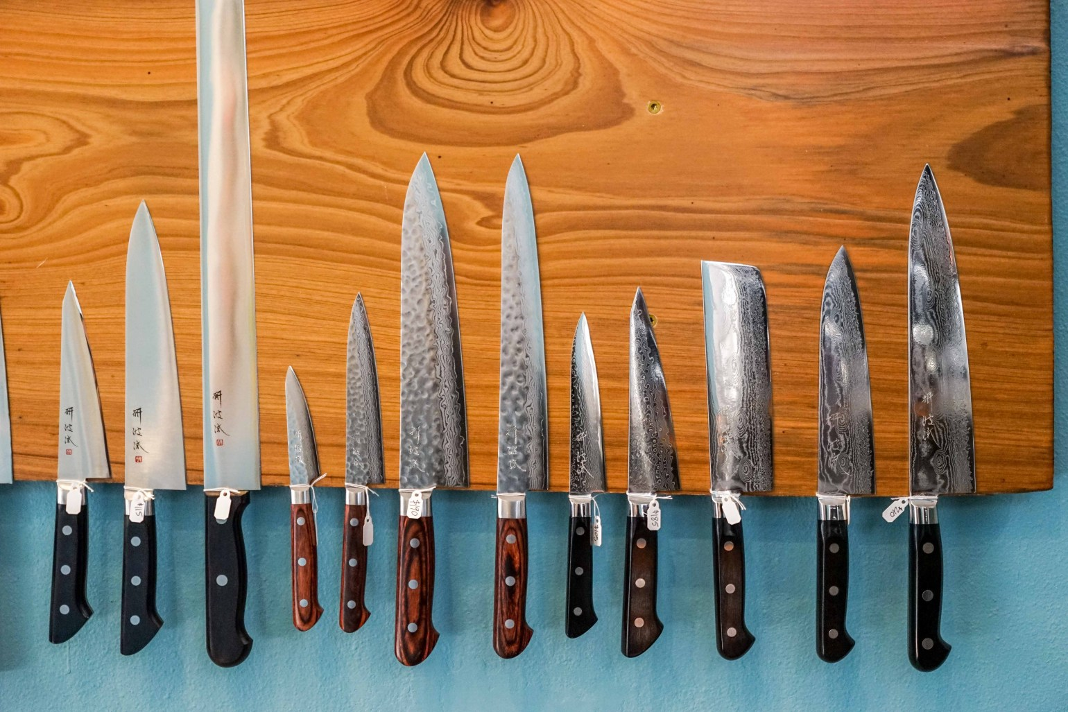 How happy was I to discover a brand new spot on Oak Street -- Coutelier NOLA is the boutique for professional Japanese cutlery -- amazing carbon steel knives, knife rolls, aprons, chef and bartender tools, and books and magazines of interest to the serious foodie or food/beverage professional.