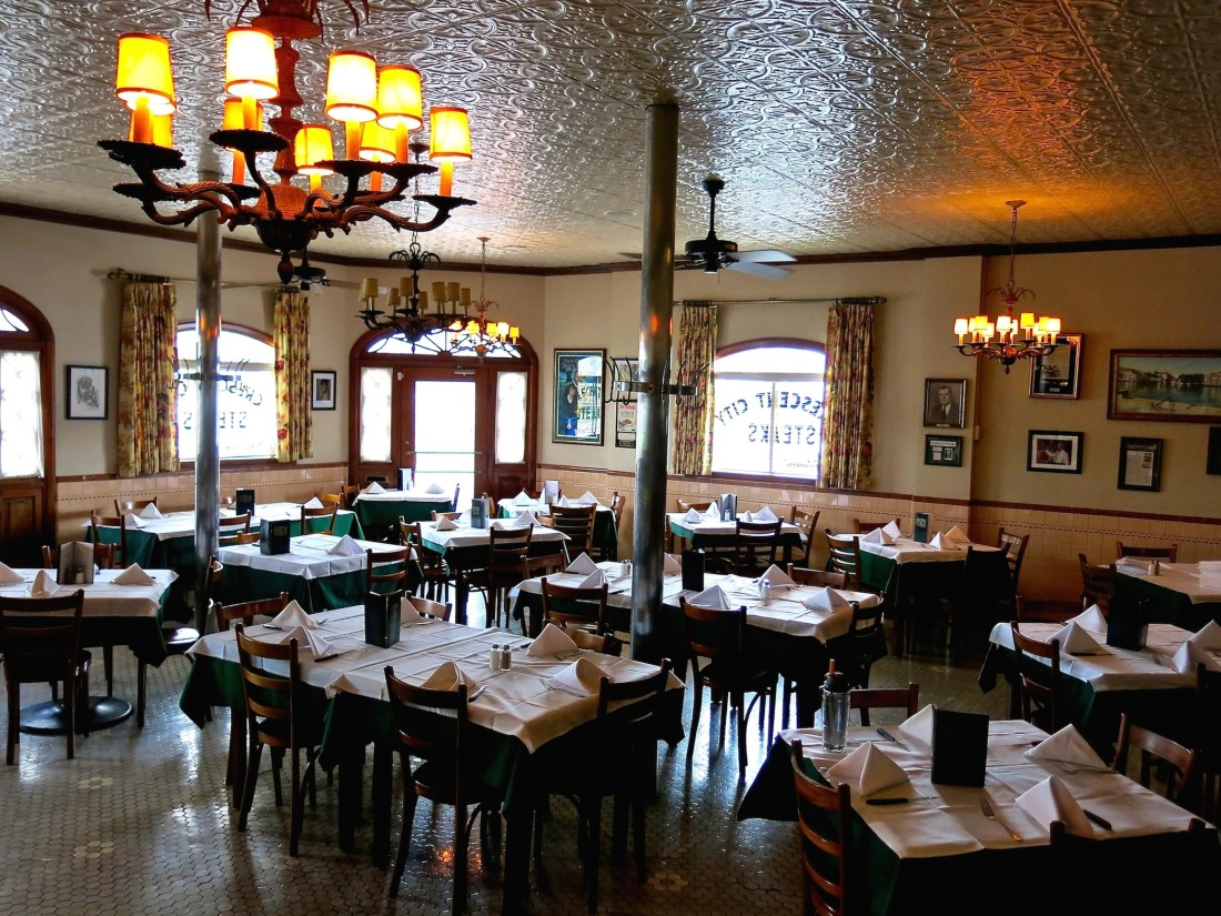 (The dining room at Crescent City Steak House. Photo credit: Christopher Garland.)
