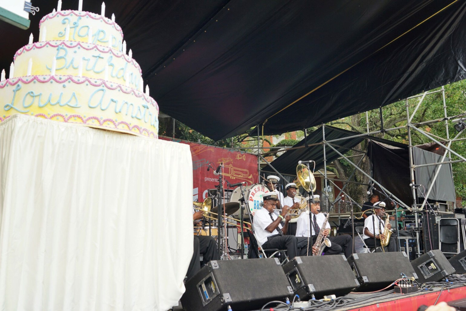 It wouldn't be a birthday celebration without a cake! Photo: Paul Broussard