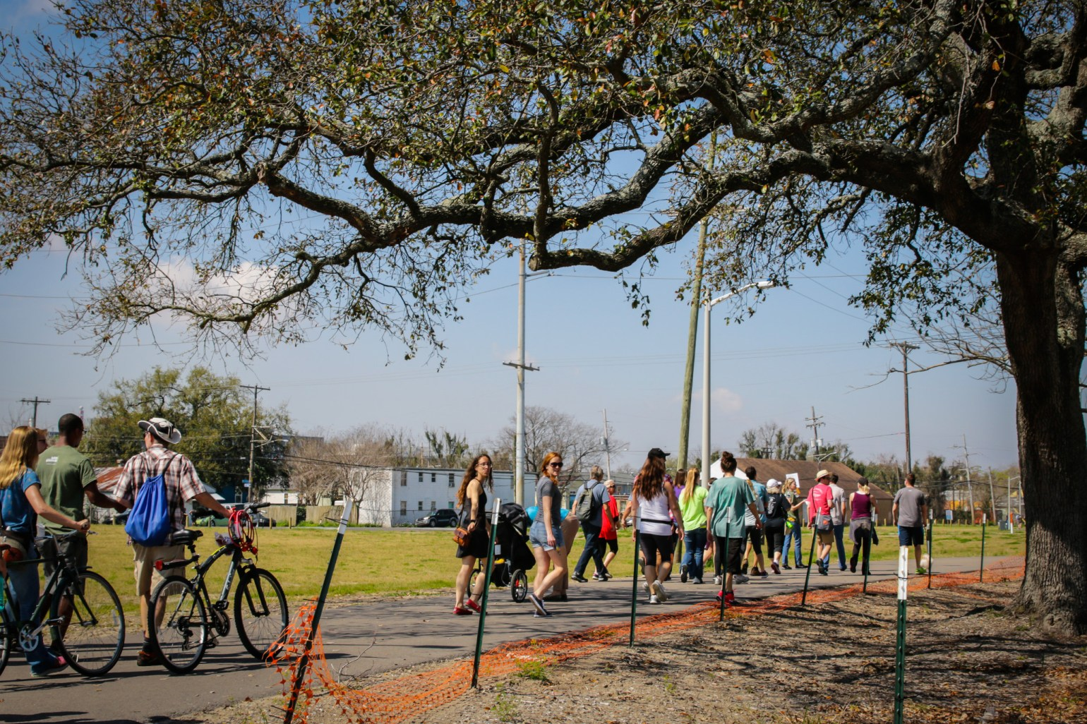Lafitte Greenway is a trail for both pedestrians and bicyclists. (Photo: Rebecca Ratliff)