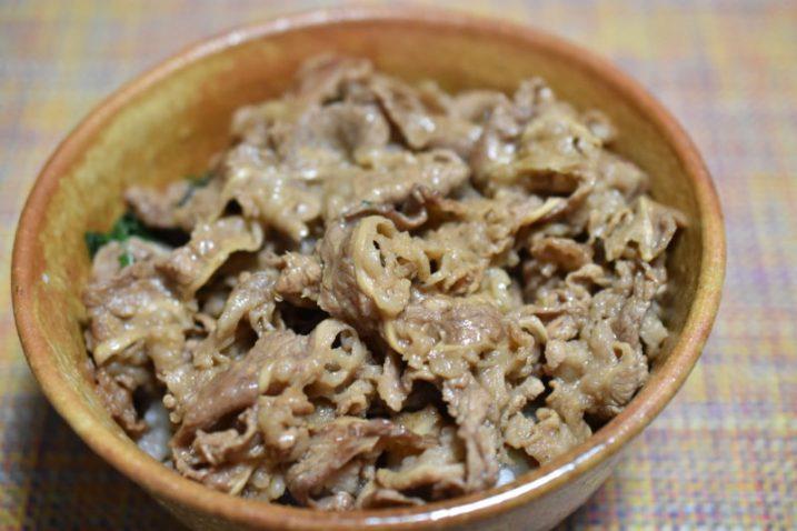 牛肉と大葉のバター丼