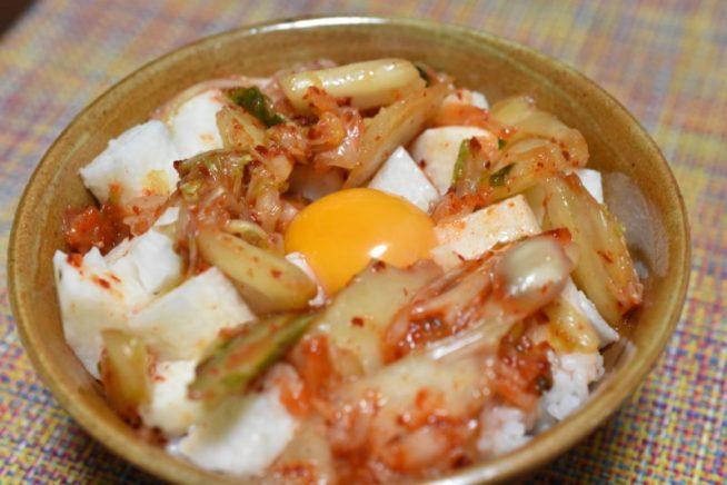 キムチ長芋丼