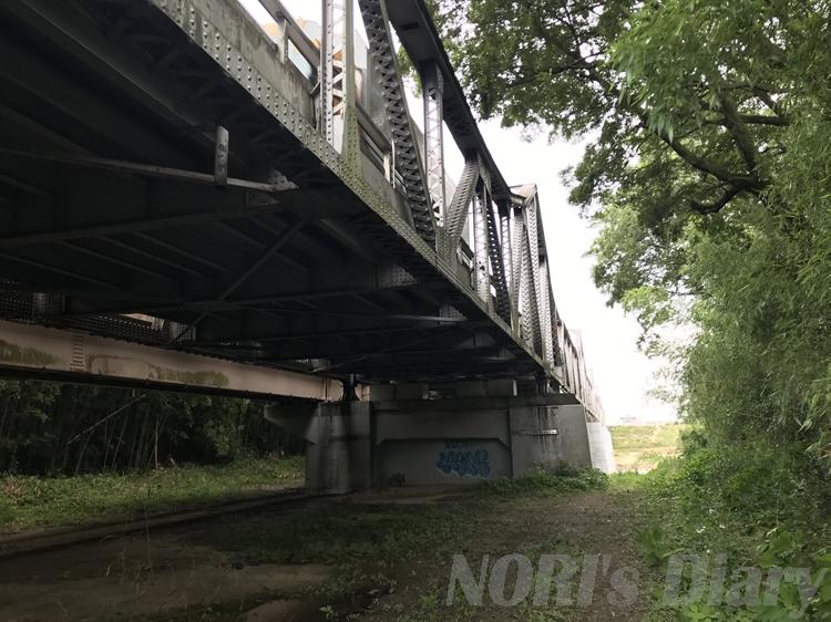 泉大橋の下を歩く