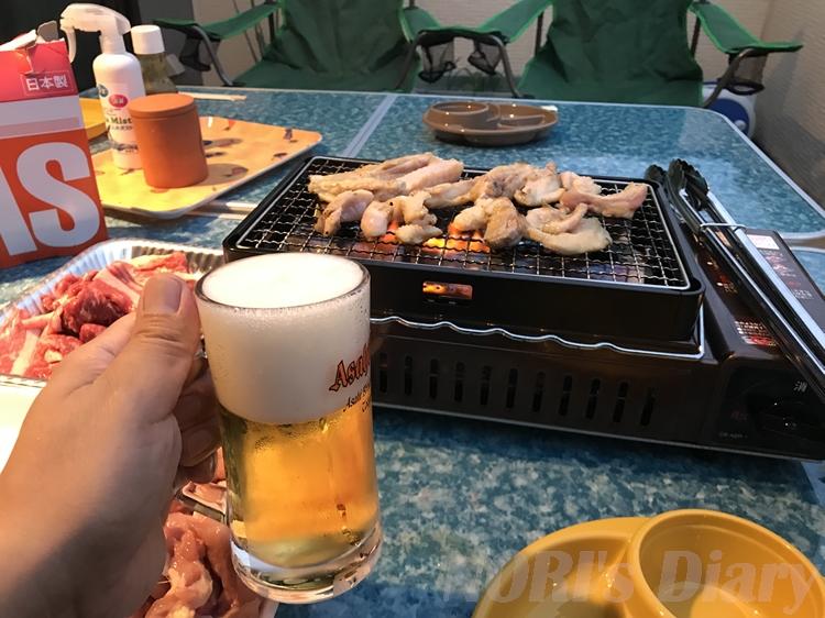 ビールでバーベキュー