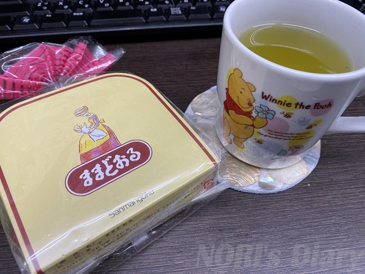 ままどおるとお茶