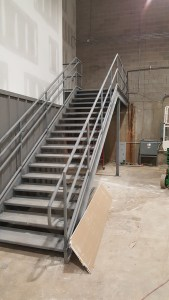 Stair to future upper level access