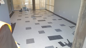 VCT in customer lobby complete
