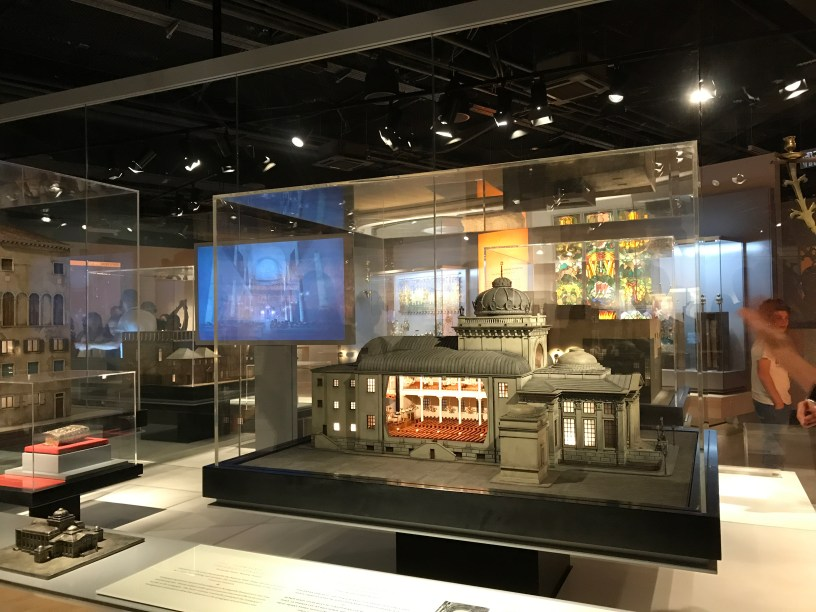 Model of synagogue at the Museum of the Jewish People at Beit Hatfutsot