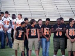 Cole Hendershot and freshmen football members