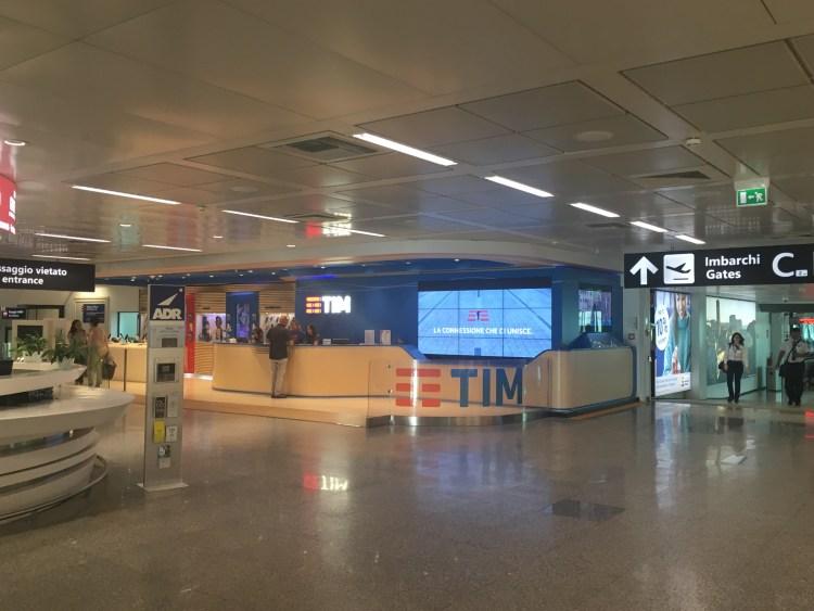 TIM, フィウミチーノ空港