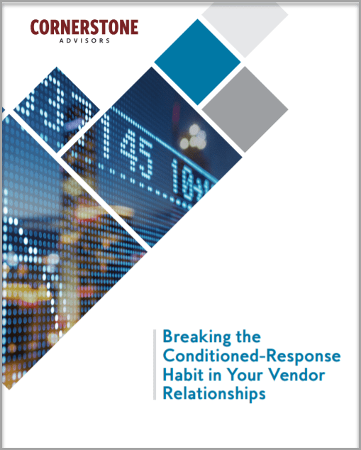 Breaking the Conditioned-Response Habit in Your Vendor Relationships