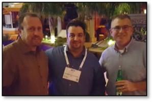 Cornerstone's Nick Lane (center) with Ed Glenning and Rob Roemer of Cap Com FCU