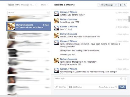 Some of the Facebook conversation.