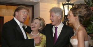 The Trump and Clinton camp looking like old high school chums.