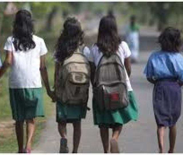 Girl Students Walking Home From School Photo Credit Online