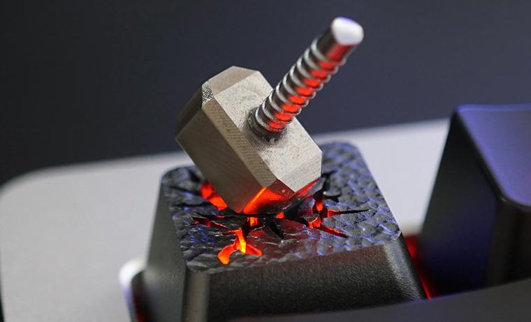 Thor Hammer Custom Keycap, 3D Metal Alloy, Backlit Keycap, Artisan Keycap For Cherry MX Switch Mechanical Keyboard