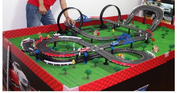 Top-Racer AGM TR Series (TR-06) Slot Car Racing Set Kits. 13.5 Meters Slot Car Track.