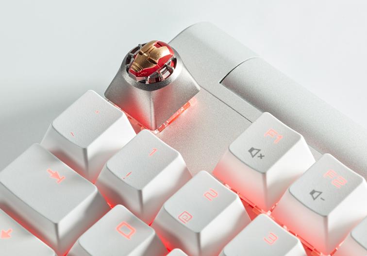 Marvel Avengers iron Man 3D Aluminum Alloy Metal Cherry Custom Keycap Artisan Keycap