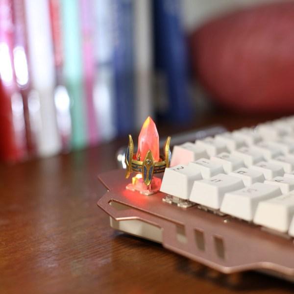 StarCraft II Protoss Pylon Custom Keycap, Backlit Keycap, Artisan Keycap For Cherry MX Switch Mechanical Keyboard