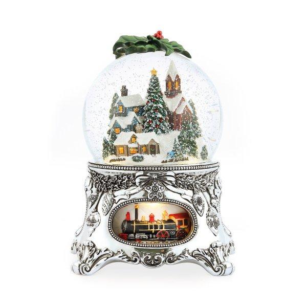 """Joy to The World"" Merry Christmas Snow Globe Music Box (Musical Box Water Globe / Snow Domes Christmas Collectible Present)"