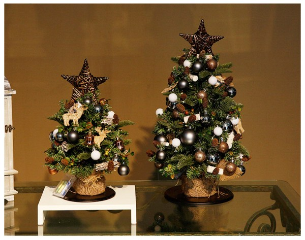 18in, 24in, 2ft, 3ft,Mini Pre-Lit Nordic Style Tabletop Artificial Scandinavian Christmas Trees, Scandinavian Christmas Decorating Ideas