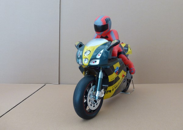 RC On-Road racing motorcycle. Xtremepower US Gas Pocket Bike Motorcycle 40cc 4-Stroke Engine (Yellow Flame)