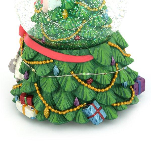 """O Tannenbaum"" Santa Claus & Christmas tree Snow Globe Music Box (Musical Box Water Globe / Snow Domes Christmas Collectible)"