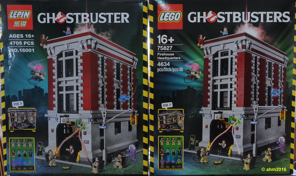 eg. LEPIN Almost 100% clone Lego 4634 Ghostbusters!