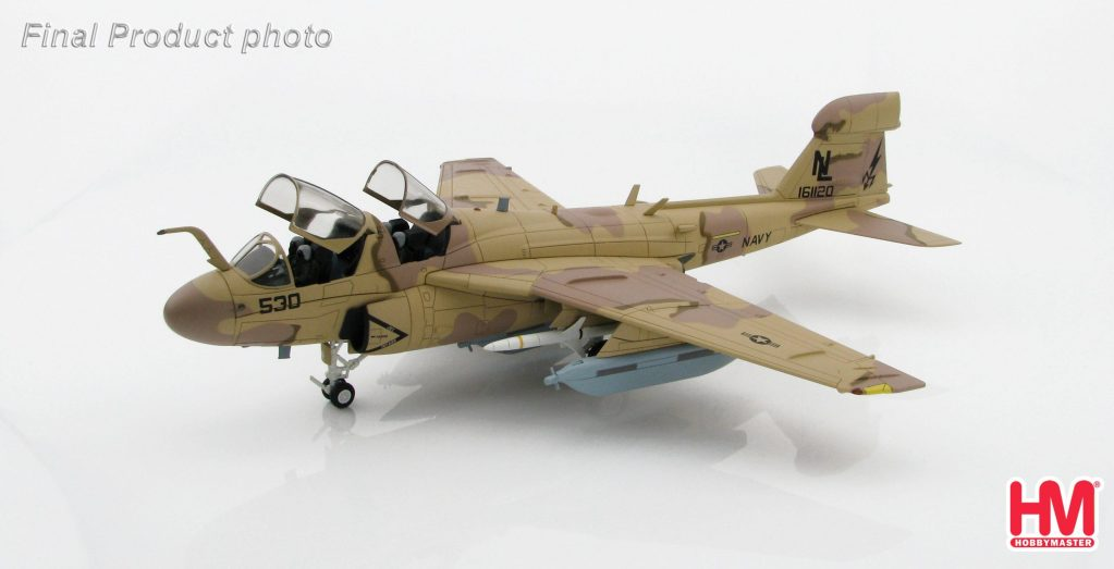 """Hobby Master Collector 1/72 Air Power Series HA5002 Grumman EA-6B Prowler 161120, VAQ-133 """"Wizards"""", Bagram Airfield, Afghanistan, 2007 (Airplanes Diecast Model, Military Aircraft Scale Model)"""