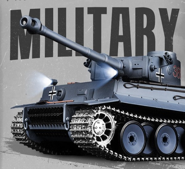 Heng-Long 3818-1 Tiger 1 Metal Track, Metal Sprocket Wheel, Metal Guide Wheel Parts Edition, 1/16 Tiger I Remote Control Scale Model Tank (RC Tank Toy, Children's toy gift)