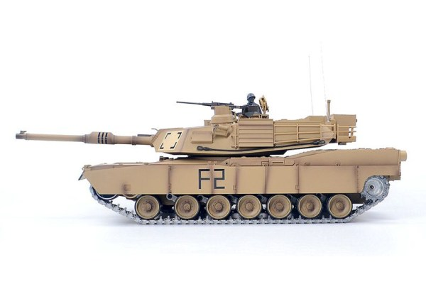 Heng-Long 3918 RC Tank U.S. Army M1A2 Abrams Main Battle Tank Metal Caterpillar Track, Metal Sprocket Wheel, Metal Guide Wheel, Metal Gearbox Edition, 1/16 M1A2 Remote Control Scale Model Tank (Military Vehicle Toy, Boy Toys, Gifts)
