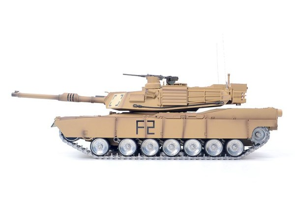 Heng Long 3918 RC Tank U.S. Army M1A2 Abrams Main Battle Tank Metal Road Wheels, Metal Suspension System, Metal Caterpillar Track, Metal Sprocket Wheel, Metal Guide Wheel, Metal Gearbox Edition, 1/16 M1A2 Remote Control Scale Model Tank (Outdoor toy, off-road vehicle toy)