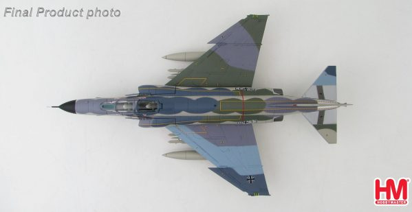 """Hobby Master Collector 1/72 Air Power HA1948 McDonnell-Douglas German F- 4F Phantom II 38+33, JG71 """"Richthofen"""" NORM81 Color Scheme. German Air Force McDonnell Douglas F-4 Phantom II supersonic jet interceptor and fighter-bomber (Military Airplanes Diecast Model, Pre built Aircraft Scale Model)"""