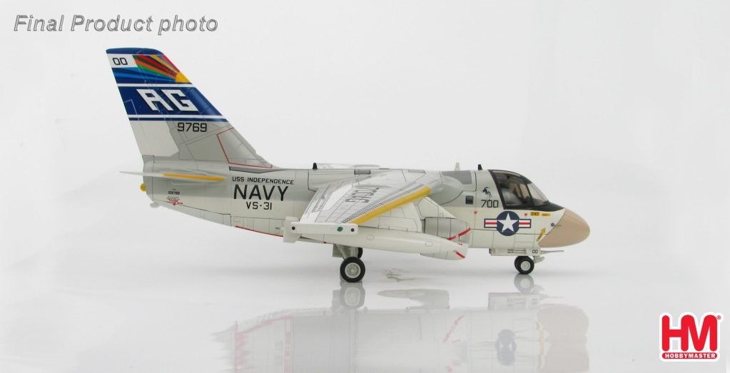 """Hobby Master Collector 1/72 Air Power HA4903 Lockheed S-3A Viking BuNo 159769, VS-31 """"Topcats"""" USS Independence, US Navy. United States Navy Lockheed S-3 Viking Carrier-based anti-submarine warfare Jet Fighter. (Military Airplanes Diecast Model, Pre built Aircraft Scale Model)"""