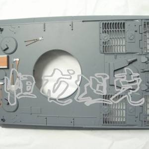 Tiger I RC Tank Upper Body Body Upper Cover For Heng-Long 3818 Tiger 1 Remote Control Tank Accessories Parts Fittings