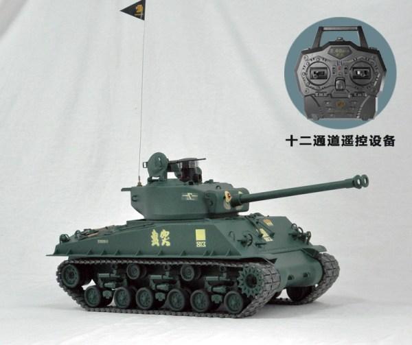 WW2 Tanks The Fury Film Sherman Tank M4A2 76 HVSS Model Tank Fury M4A3E8 Easy 8 Sherman RC tank M4 Sherman Scale Model Tank