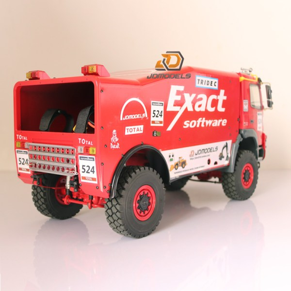RTR RC 4WD 1/14 Scale Dakar Rally Race Truck, RC truck rally models, RC truck racing, Honza drives our new built model on the Axial scx 10 II chassis. He finished 13th in the first race.