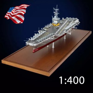"""""""The Strongest on Earth"""" ✅USS Enterprise (CVN-65) """"Big E"""" United States Navy Enterprise-class aircraft carrier, 1:400 Scale Length of the whole ship 85 cm, 17KG Total Weight, All Metal (Full Metal) Die-cast Nuclear-powered Aircraft Carrier Scale Model, Warship Model for Teaching Display Collection."""