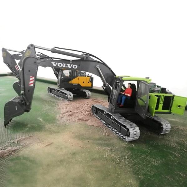 1/14 Scale Volvo EC160E Crawler Excavator All Metal & Full Metal RC Hydraulic Excavator, Volvo Construction Equipment Full Function Radio Remote Control Hobby Scale Model