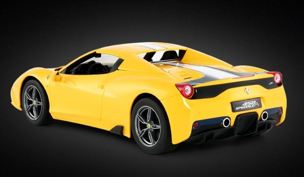 Yellow Ferrari 458 Speciale A RC Toy Car. Electric Ferrari Sports Car Toy, Ferrari Roadster Toy, Children Toy, Kids Toy, Christmas Present, Remote Control Racing Toy Car, Road Car