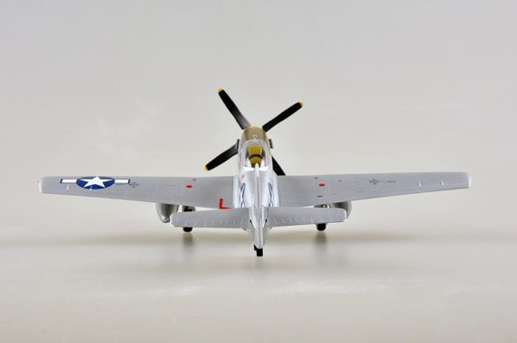 """1/48 Scale Miniature Model, (Trumpeter & HobbyBoss) EasyModel 39325 United States Air Force """"Glenn T. Eagleston"""" North American P-51 Mustang Completed Painted Weathered (Already Assembled & Finished Model) Fighter & Fighter-Bomber Scale Model, (Suitable for Collection & Collect, War Battlefield Diorama Scene, Exhibits, Decorations, Gift)"""