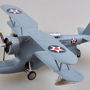 1/48 Scale Miniature Model, (Trumpeter & HobbyBoss) EasyModel 39323 Grumman J2F Duck Single-Engine Amphibious Biplane Completed Painted Weathered (Already Assembled & Finished Model) Scale Model, (Suitable for Collection & Collect, War Battlefield Diorama Scene, Exhibits, Decorations, Gift)