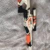 1:1 Scale CSGO Skins AWP Asiimov Custom Building Blocks Bricks Model, Compatible MOC Sniper Rifle, Gun Toy Building Blocks Set Assembly Ideas. Can Fire Building Block Bullets, Real Pull Rifle Bolt Bullet Loaded